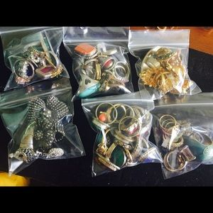 Jewelry - Lot used rings sizes 6-10